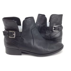 Crown vintage buckled ankle boots slip on size 11